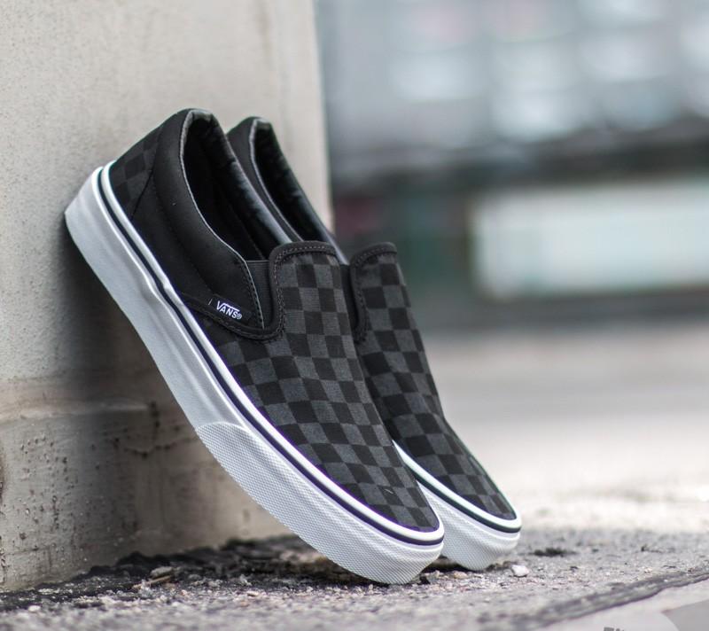 Vans Classic Slip-On (Checkerboard) Black