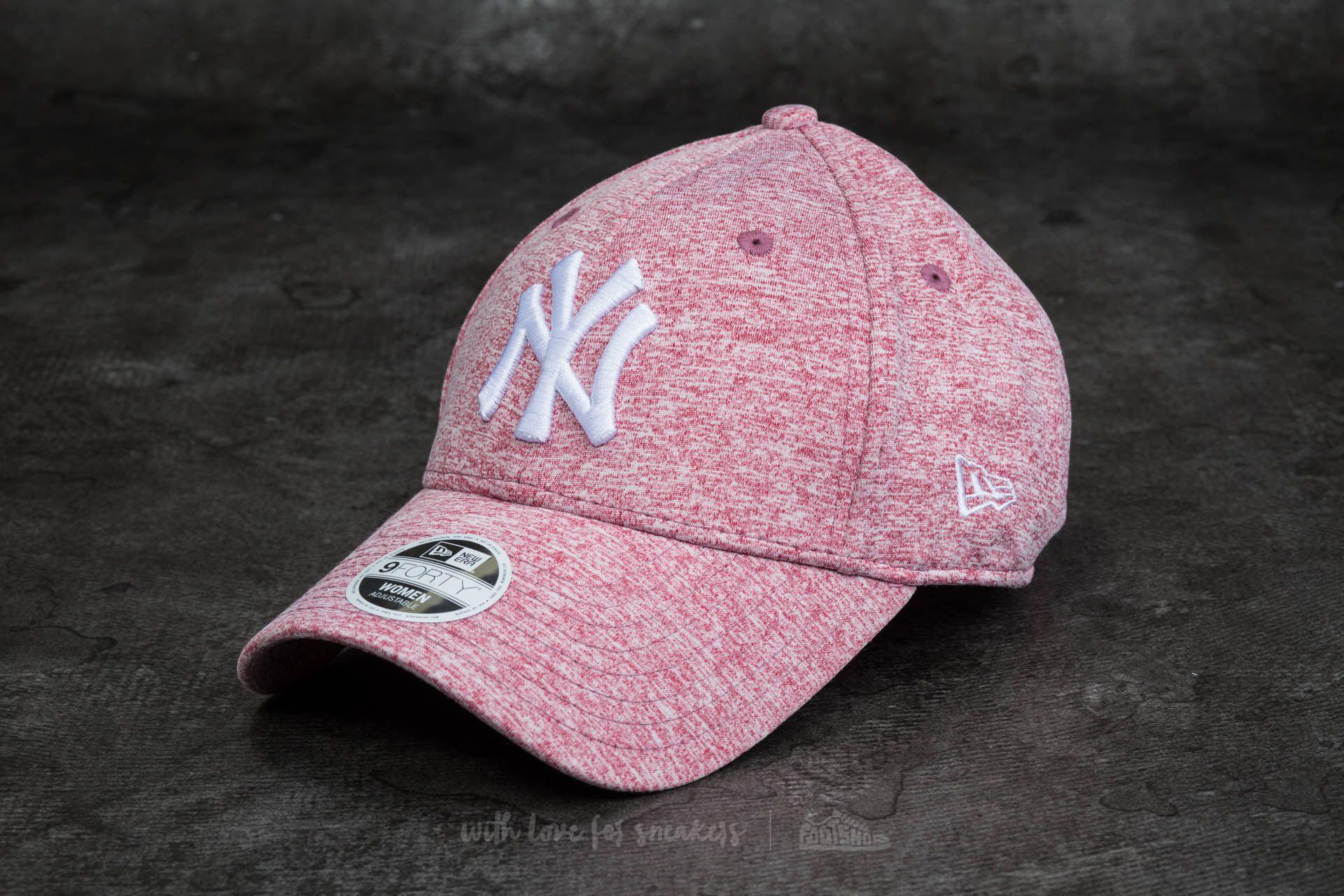 255b483f755 New Era 9Forty Women Adjustable Jersey Fleck New York Yankees Cap Maroon