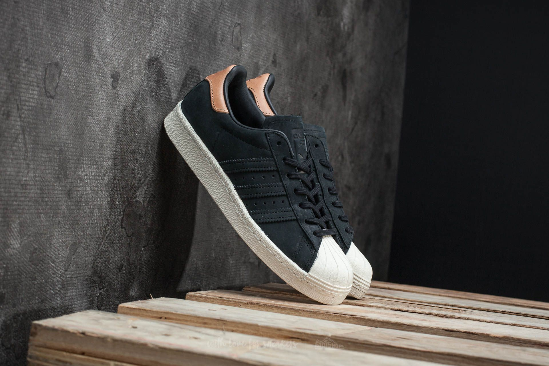 adidas Superstar 80s W Core Black Off White | Soyoudeal shoes