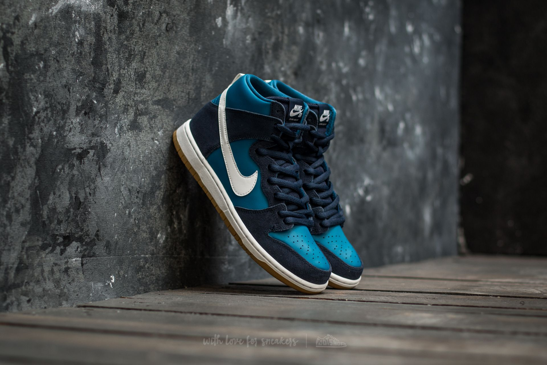 Nike SB Zoom Dunk High Pro Obsidian/ White-Industrial Blue