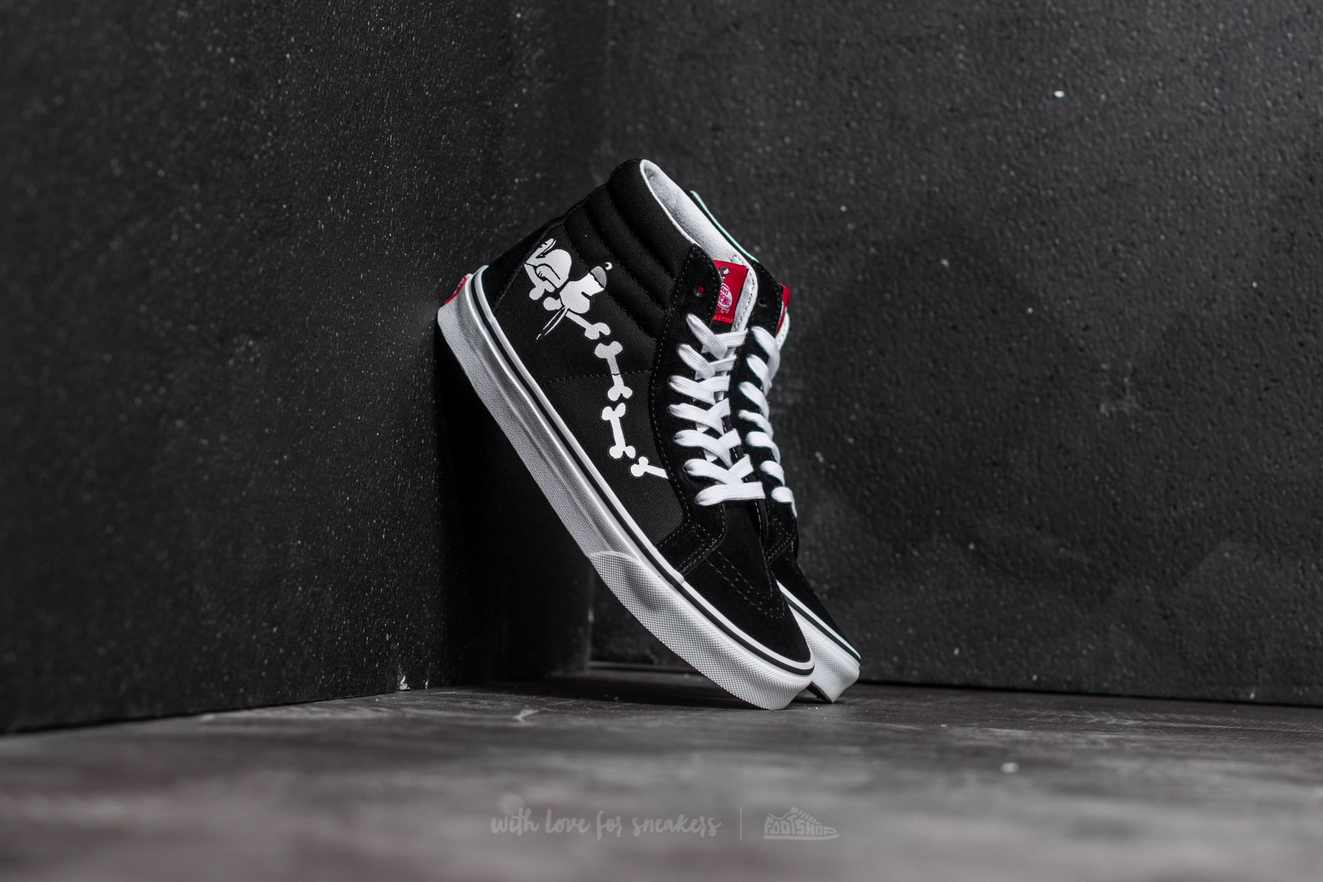 Vans x Peanuts SK8-Hi Reissue Snoopy Bones  Black  b54b0f82fbe