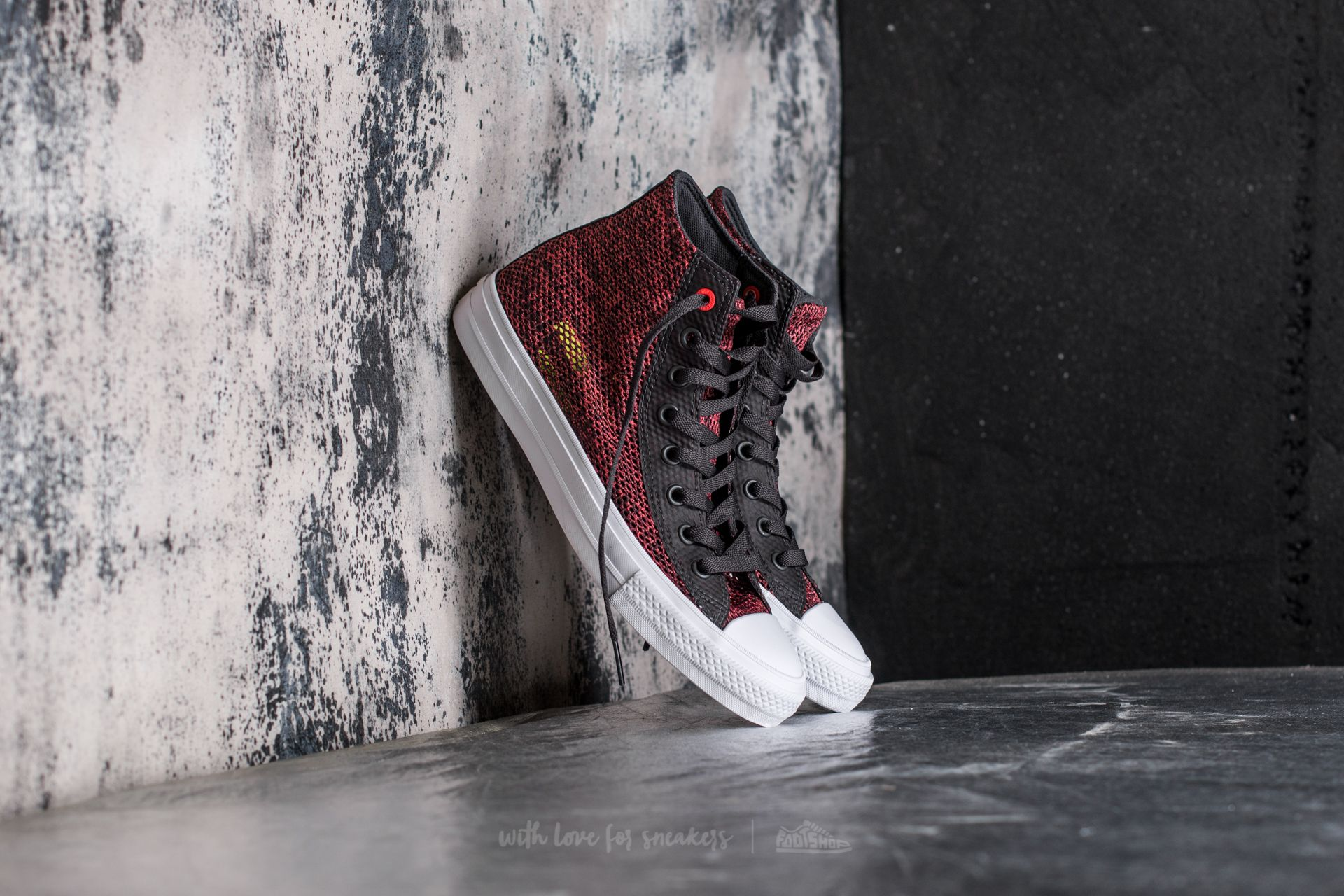 Converse Chuck Taylor All Star Ox Black//Ultra Red//White