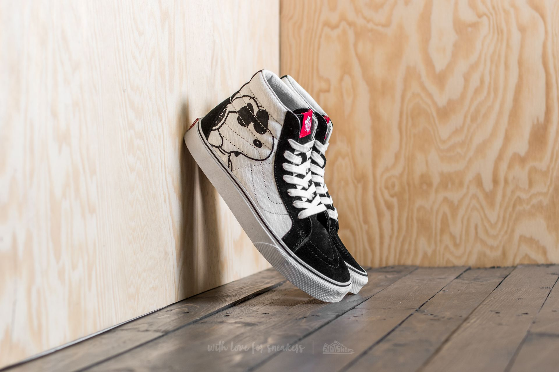 3fa120baee Vans x Peanuts Sk8-Hi Reissue Joe Cool  Black