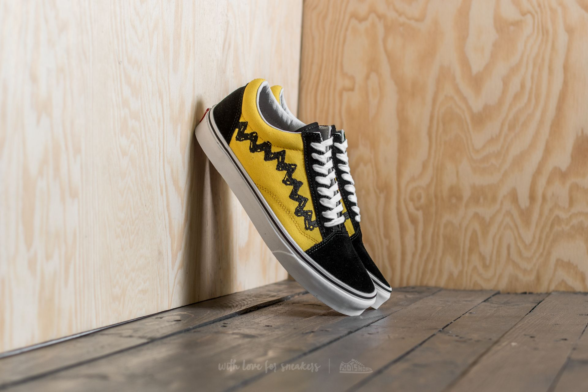 vans x peanuts old skool yellow
