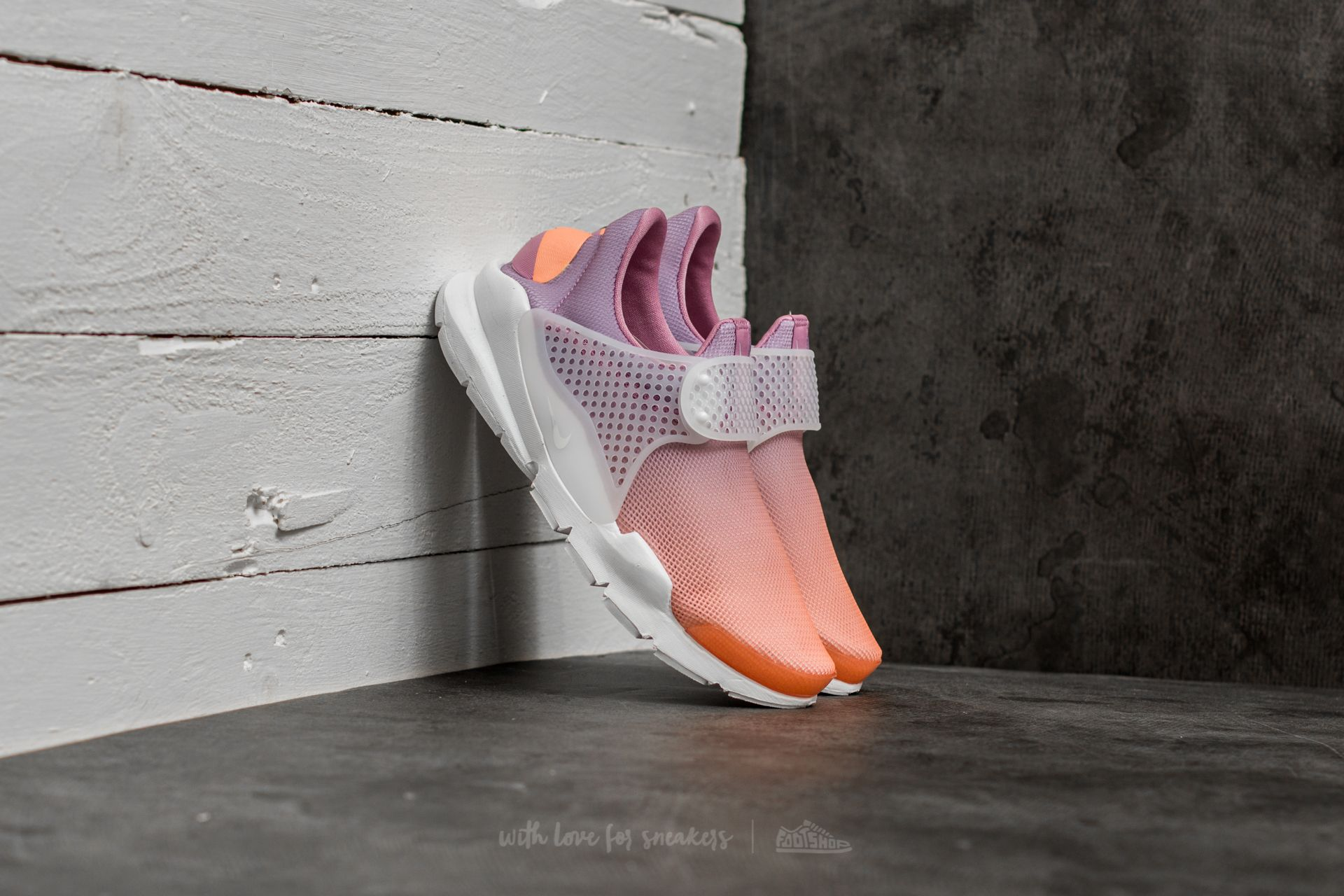 Nike Wmns Sock Dart Br Sunset Glow/ White-Orchid