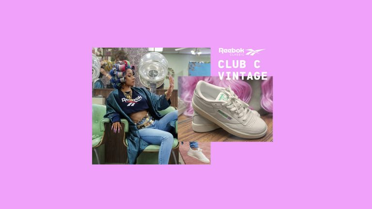 Cardi B as the new face of the Reebok Club C