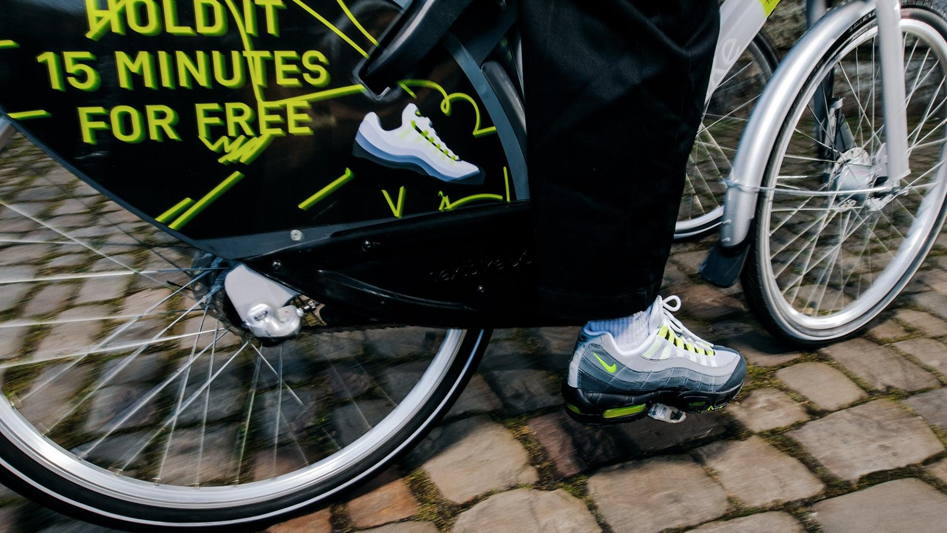 """Nike AM 95 OG """"Neon"""" brings cleaner air and free Nextbike rides"""