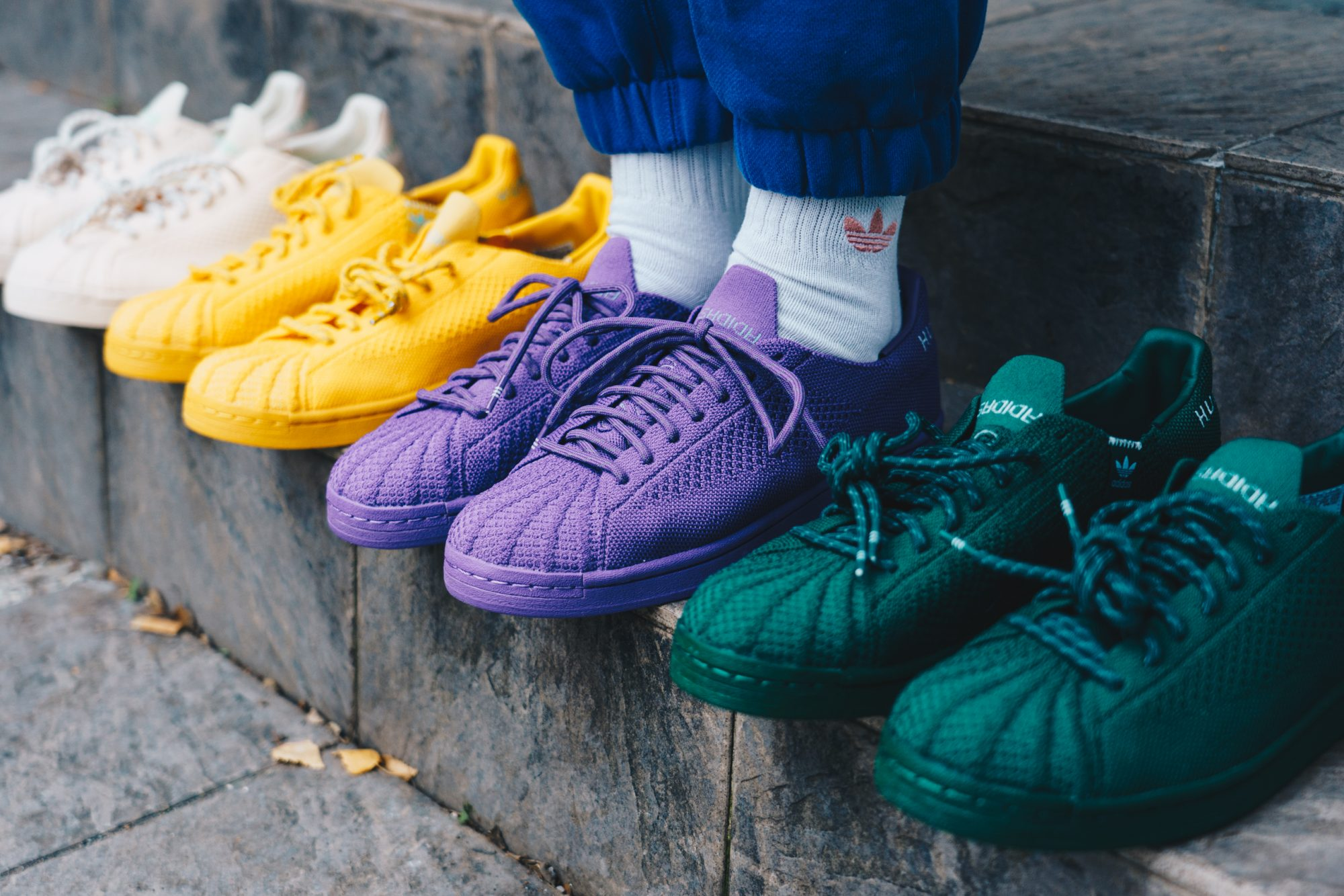 The adidas Originals x Pharrell Williams' collaboration color palette
