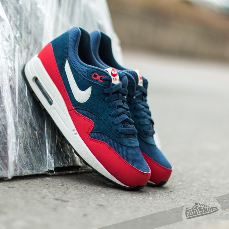 new product 81126 0a516 ... neptune blue nike air max 1 navy red . ...