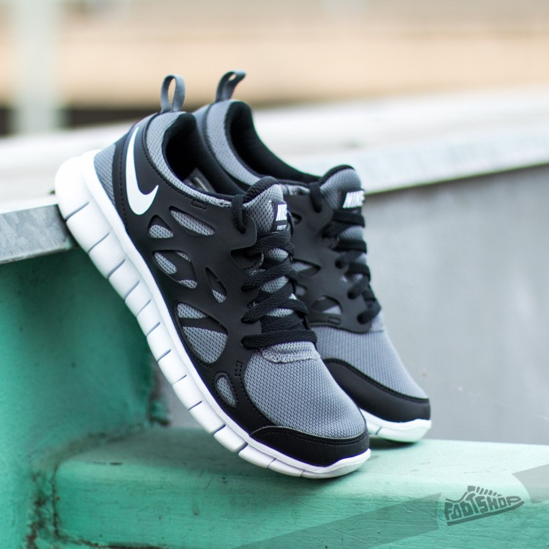 Nike Free Run+ 2 Cool Grey White Black