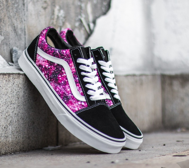 vans old skool galaxy black true white