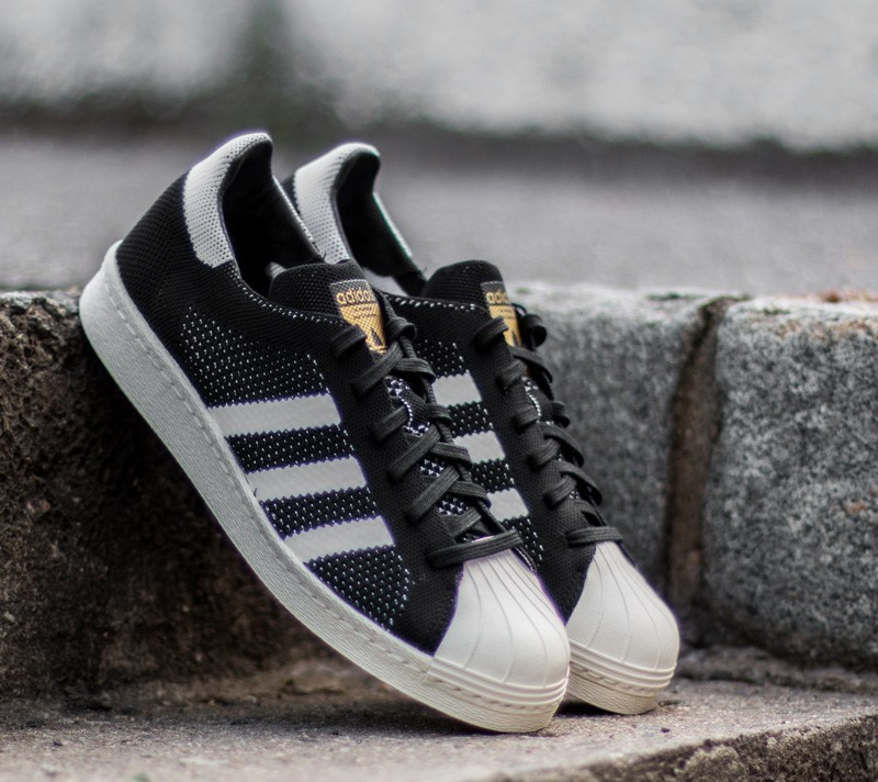 jgixa adidas Superstar 80s Primeknit Core Black/ Ftw White/ Gold Metal