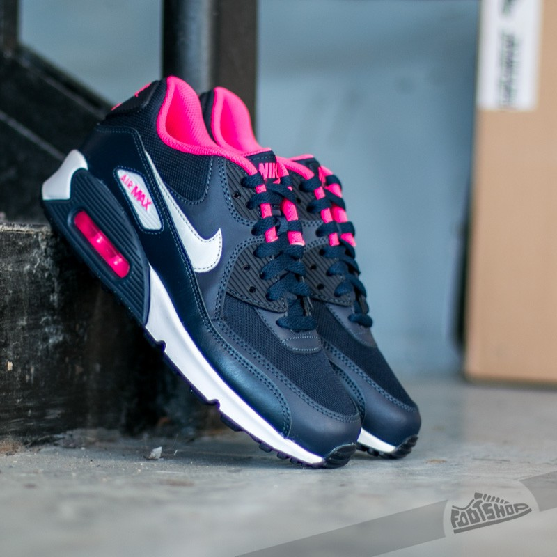 Nike Air Max 90 GS Pure Platinum Pink Black Anthracite