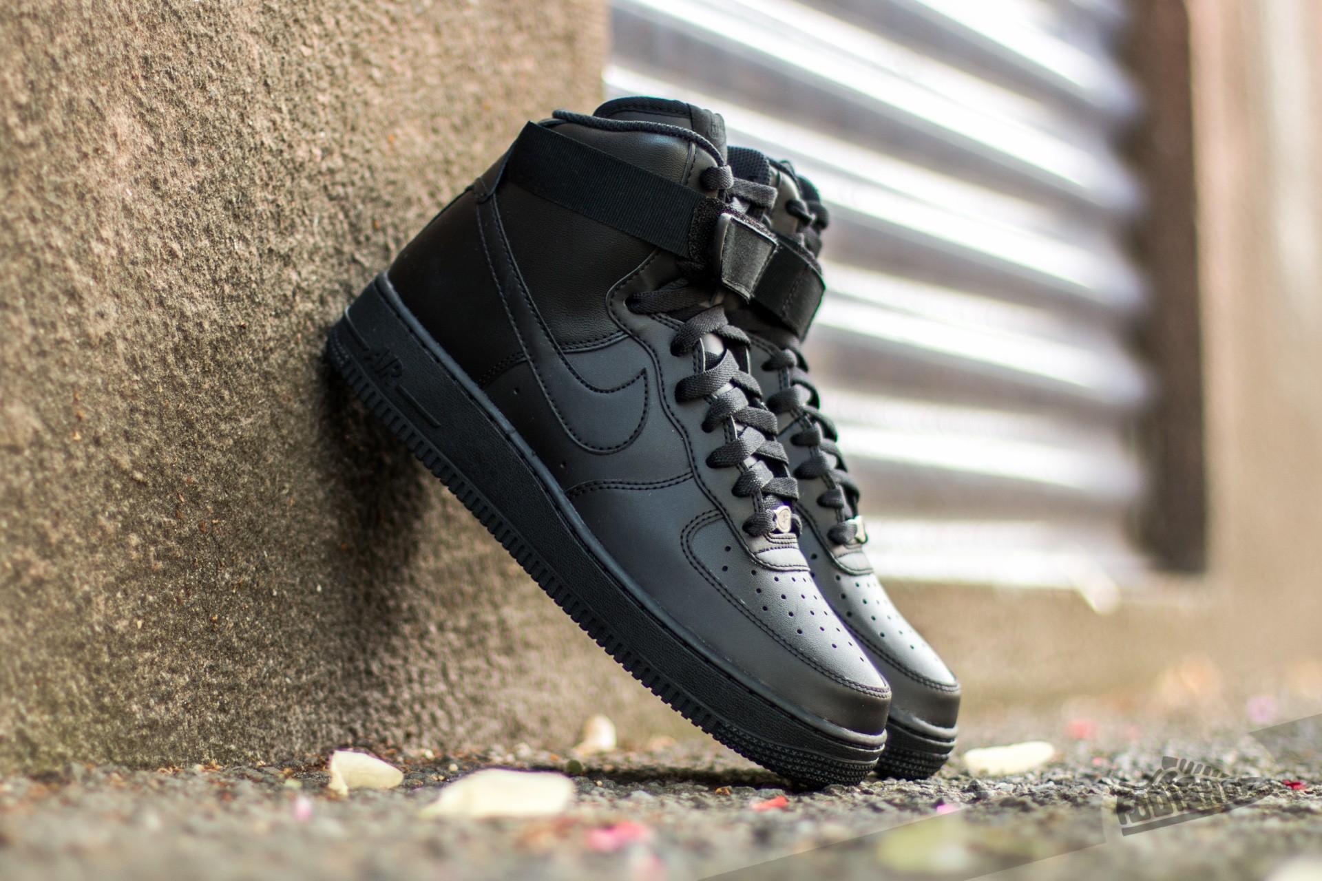 nike air force 1 high 18007 black black black footshop