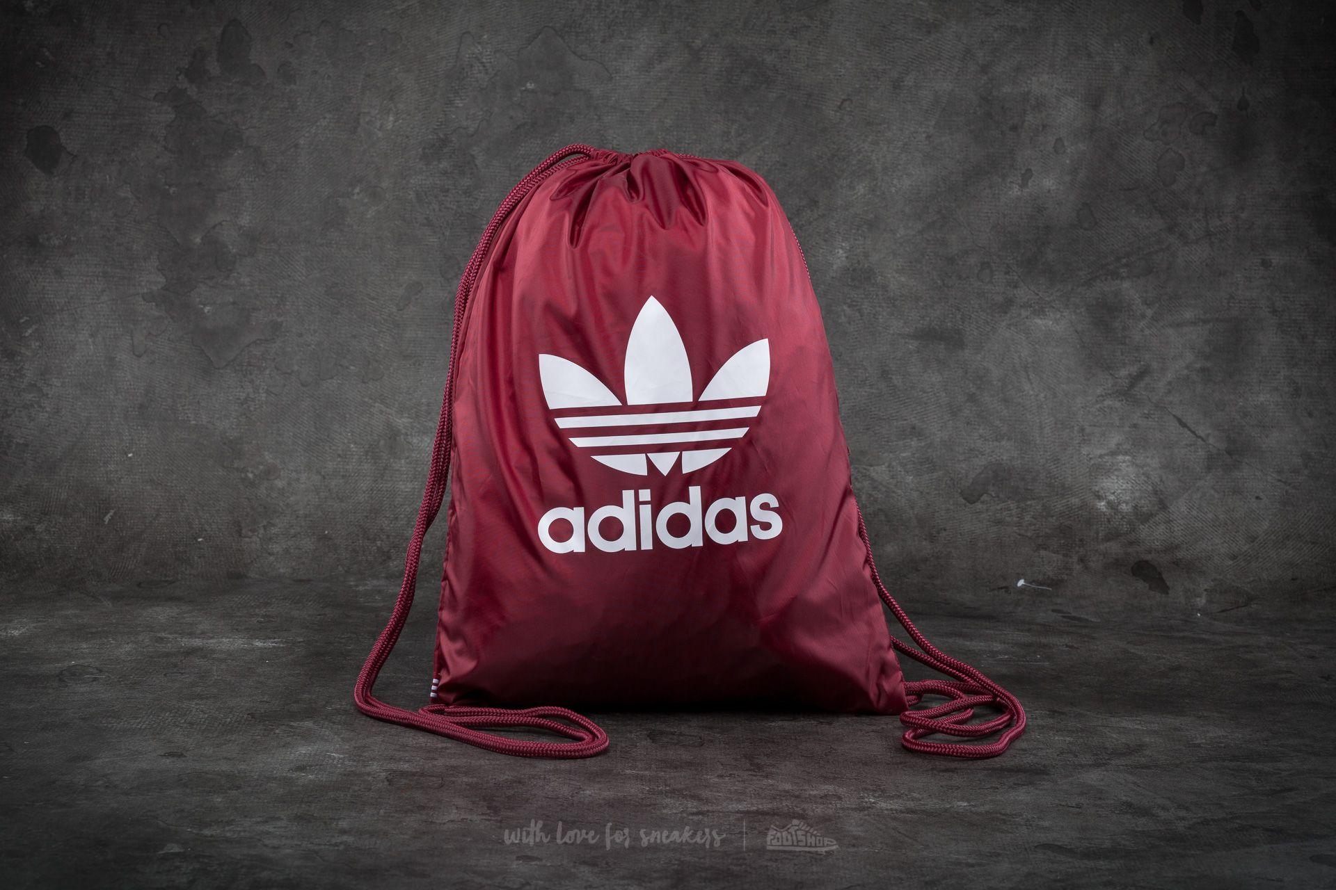 adidas Trefoil Gymsack Collegiate Burgundy