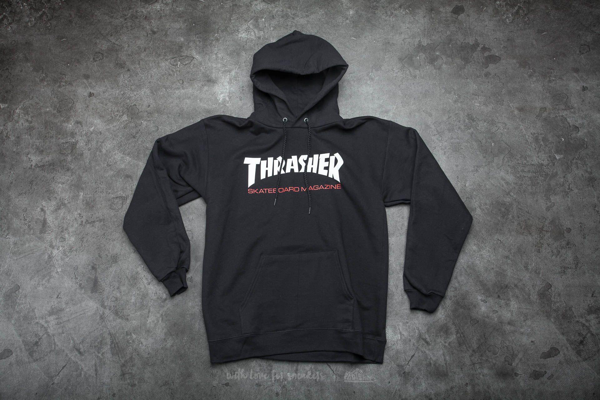 Thrasher Two-Tone Skate Mag Hoodie Black